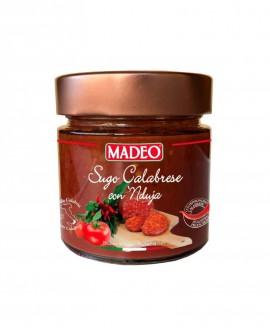 Sugo Calabrese con 'Nduja piccante in vaso vetro - 215g - Madeo