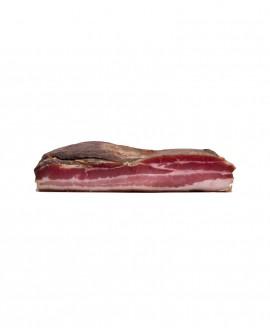 Pancetta Affumicata stesa Stagionata Selezione Verdés - trancio grande con cotenna 2.5Kg sottovuoto - stagionatura 90 giorni -