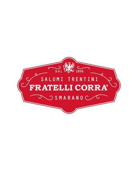 Pancetta Affumicata stesa Stagionata Selezione Verdés - affettata 100g sottovuoto - stagionatura 90 giorni - Fratelli Corra