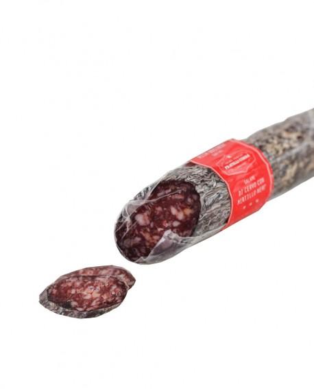 Salamino di Cervo con Mirtillo Nero - Hirschsalami 200g sottovuoto - stagionatura 60 giorni - Fratelli Corra