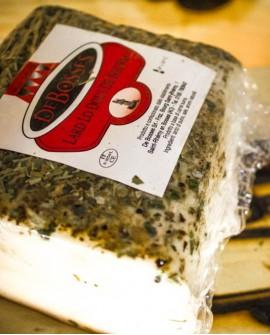 Lard Douce al peperoncino Baffa taglio 4,5 kg sv - stagionatura 30gg - De Bosses