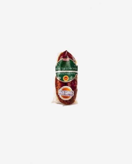 Salsiccia di Calabria D.O.P. catena rossa dolce 1,5 kg Tenuta Corone - Salumificio Madeo