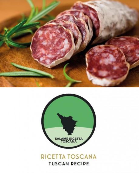 Salametto ricetta toscana intero vista gr 200 al pezzo - 4 Kg - Salumeria di Monte San Savino