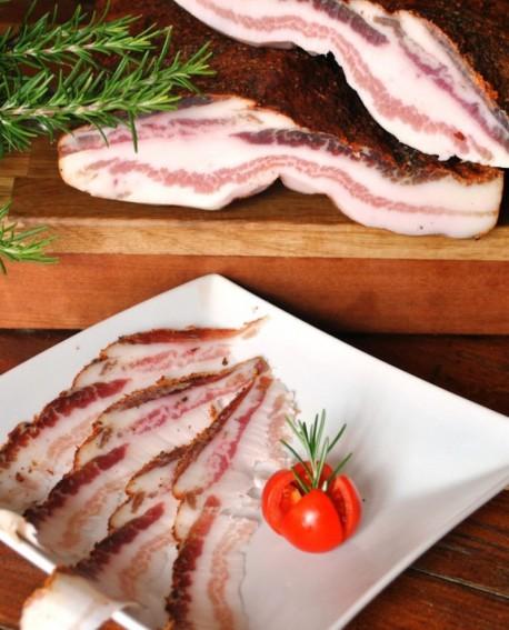 Pancetta Bassianese con rosmarino, pepe, vino e aglio - 3,5 Kg - stagionatura 3 mesi - Reggiani