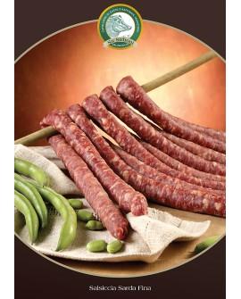 Salsiccia sarda fina gr 300 Salumificio Su Sirboni