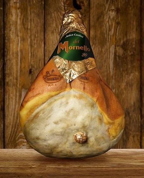 Prosciutto di Parma DOP classico con osso Cantina del Mornello 10,5 kg - Stagionato 20 mesi - Devodier