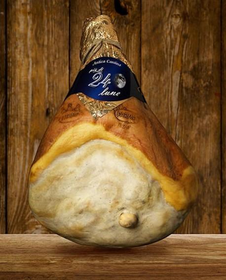 Prosciutto di Parma DOP con osso Cantina più di 24 Lune 10 kg - Stagionato 24 mesi - Devodier