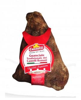 Guanciale Stagionato Tradizionale dei Castelli Romani - Pepe - 1,3 kg - Castelli Salumi