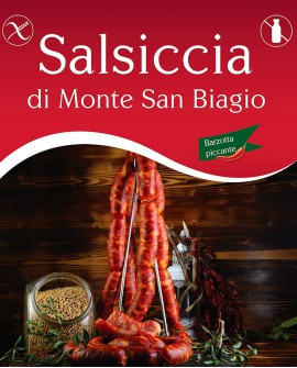 Salsiccia di Monte San Biagio Barzotta Catenella Piccante 800g - Salumi Grufà