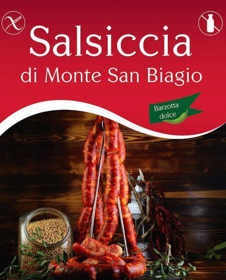 Salsiccia di Monte San Biagio Barzotta Catenella Dolce 500g sottovuoto - Salumi Grufà