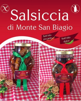 Salsiccia di Monte San Biagio Stagionata Sottolio Piccante 2,3 Kg al pezzo - stagionatura 1 mese - Salumi Grufà