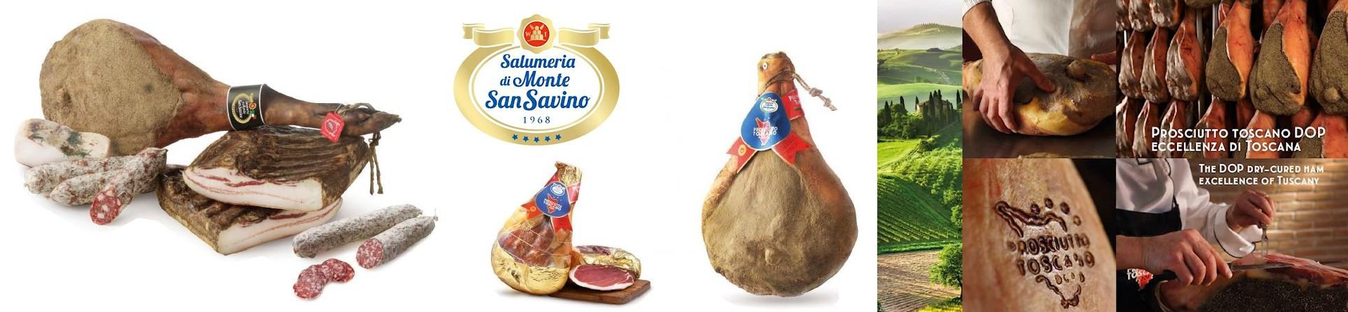 Prosciutto toscano DOP e Prosciutto di Cinta Senese - Antica Salumeria di Monte San Savino - vendita online