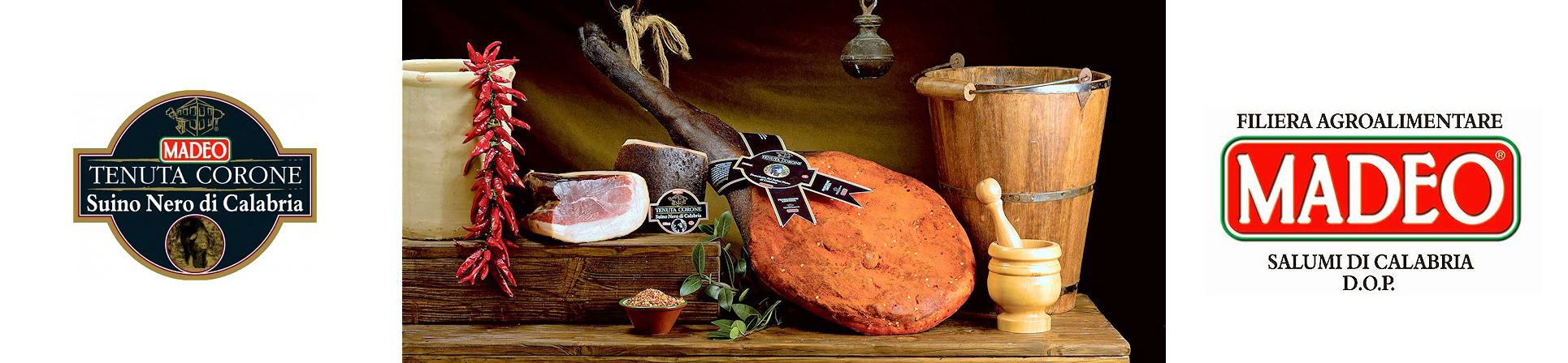 Prosciutto di Suino Nero di Calabria - Tenuta Corone, MADEO - vendita online